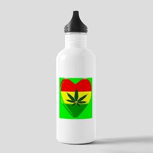 Rasta Heart Stainless Water Bottle 1.0L
