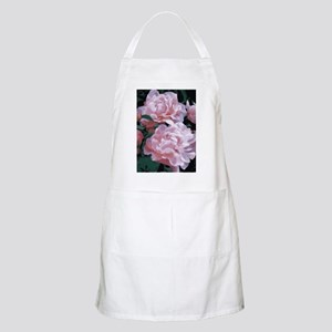 Pink Peonies Floral Vector Art Light Apron