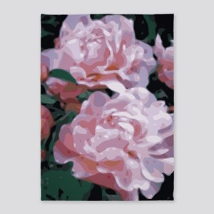 Pink Peonies Floral Vector Art 5'x7'area R