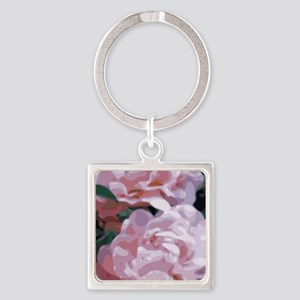 Pink Peonies Floral Vector Art Keychains