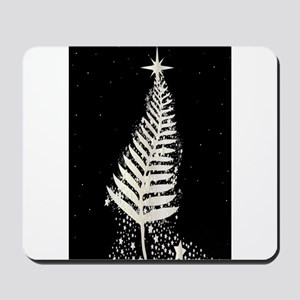 New Zealand SIlver Fern Christmas Tree Mousepad