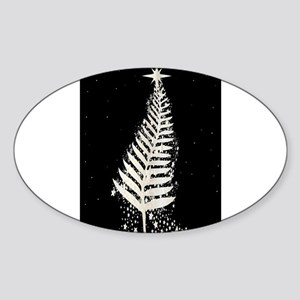 New Zealand SIlver Fern Christmas Tree Sticker