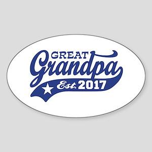 Great Grandpa Est. 2017 Sticker (Oval)