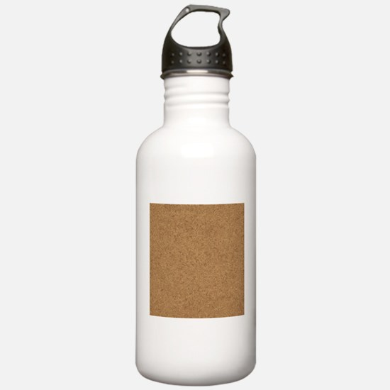 Cork Board Background Water Bottle