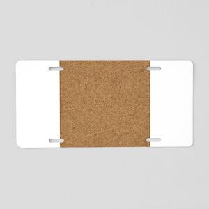 Cork Board Background Aluminum License Plate