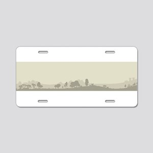 Wooded Foreground Aluminum License Plate