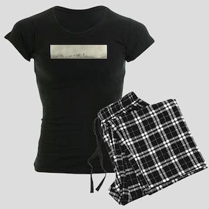 Wooded Foreground Women's Dark Pajamas