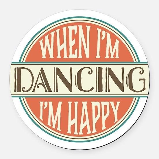 happy dancer Round Car Magnet