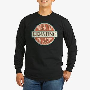 happy debater Long Sleeve Dark T-Shirt