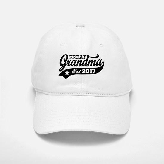 Great Grandma Est. 2017 Baseball Baseball Cap
