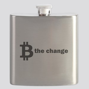 B Be The Change - Bitcoin Flask