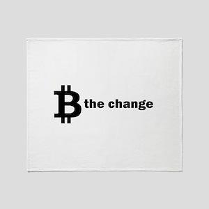 B Be The Change - Bitcoin Throw Blanket