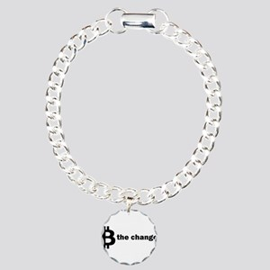 B Be The Change - Bitcoi Charm Bracelet, One Charm