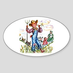Farm Boy Oval Sticker