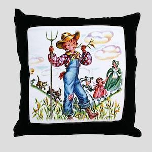 Farm Boy Throw Pillow