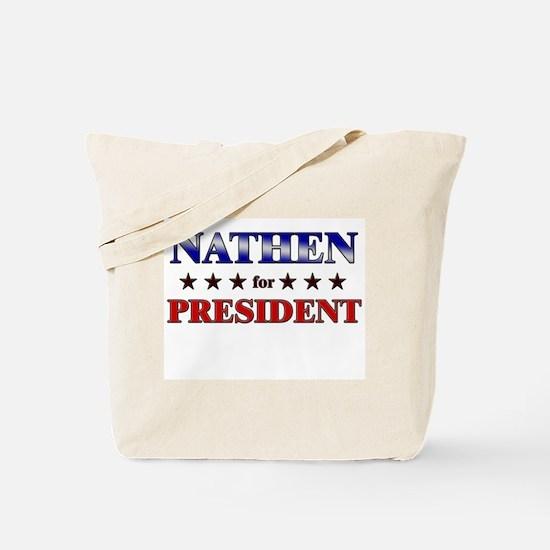 NATHEN for president Tote Bag