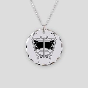 hockey helmet Necklace Circle Charm