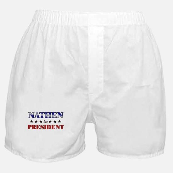 NATHEN for president Boxer Shorts