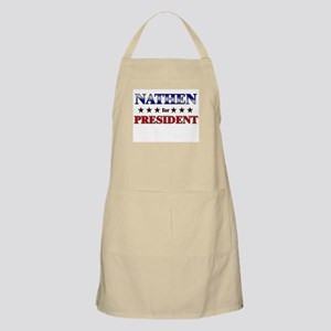 NATHEN for president BBQ Apron