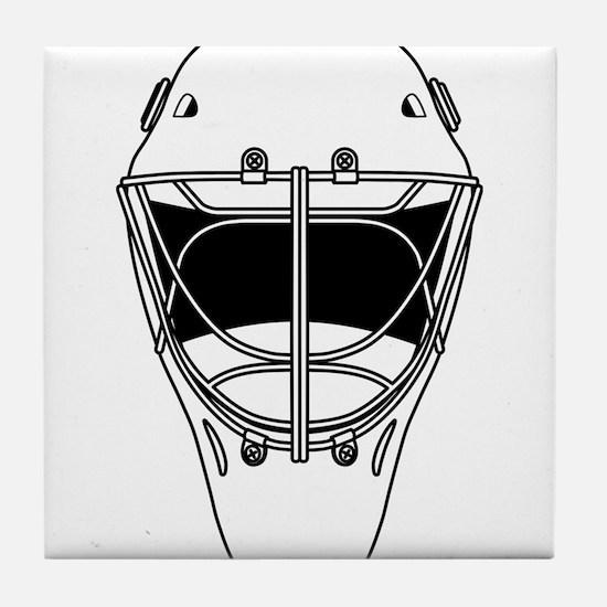 hockey helmet Tile Coaster