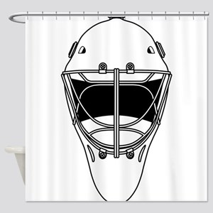 hockey helmet Shower Curtain