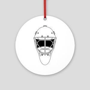 hockey helmet Round Ornament