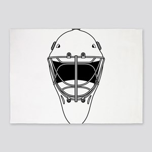 hockey helmet 5'x7'Area Rug