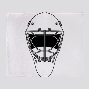 hockey helmet Throw Blanket