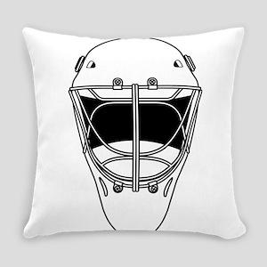 hockey helmet Everyday Pillow