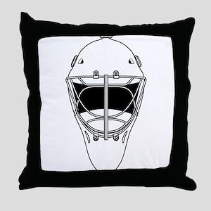 hockey helmet Throw Pillow