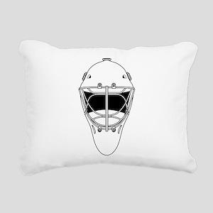 hockey helmet Rectangular Canvas Pillow