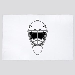 hockey helmet 4' x 6' Rug