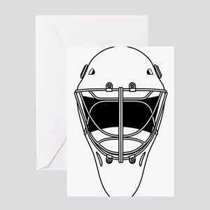 hockey helmet Greeting Cards