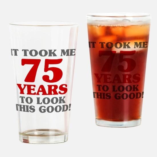 Cute 75 birthday Drinking Glass