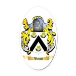 Waight Oval Car Magnet