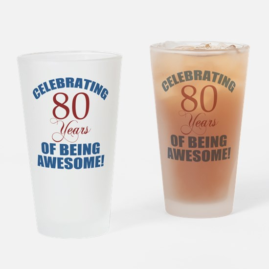 Unique 80 year olds Drinking Glass