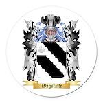 Wagstaffe Round Car Magnet
