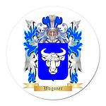 Wagoner Round Car Magnet