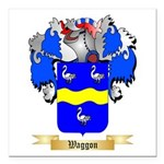Waggon Square Car Magnet 3