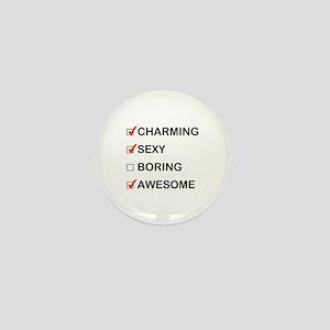 Not Boring Mini Button