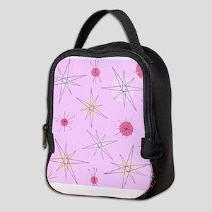 Pink Atomic Era Art Neoprene Lunch Bag