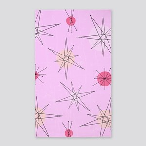 Pink Atomic Era Art Area Rug