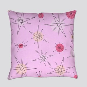 Pink Atomic Era Art Everyday Pillow