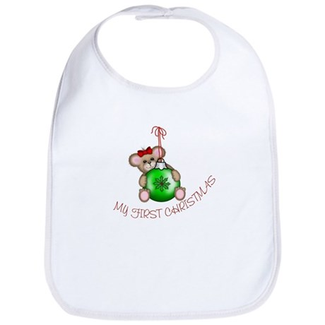 First Christmas Mouse Bib
