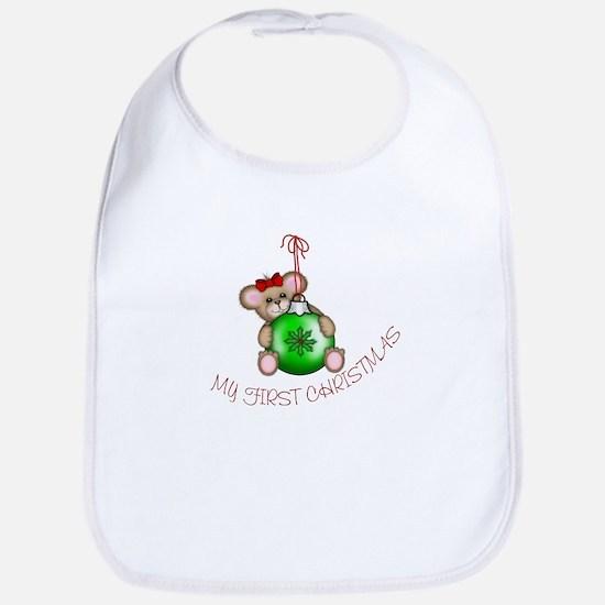 First Christmas Mouse Bib