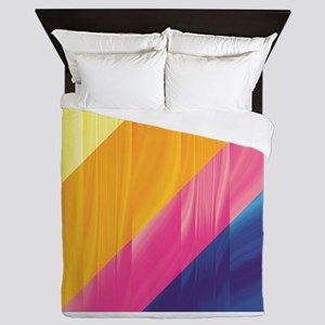 Colored Stripes Queen Duvet