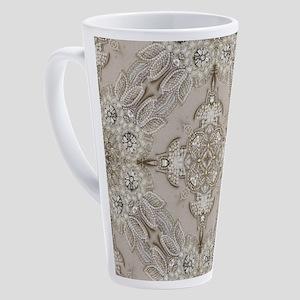 glamorous girly Rhinestone lace 17 oz Latte Mug