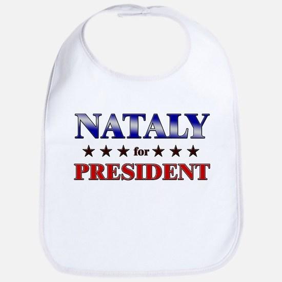 NATALY for president Bib