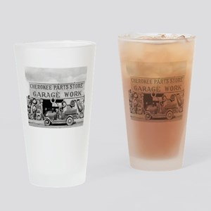 Cherokee Parts Store Vintage Garage Drinking Glass