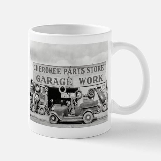 Cherokee Parts Store Vintage Garage Mugs